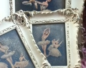 Vintage Shabby Cottage Ballerina Dancer Ornate Distressed Frames Pictures 3 piece set by Turner Wall Accessory