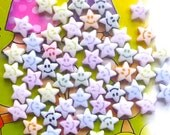 50 grams of 8.5mm Happy Face Stars Acrylic Beads (about 360 pieces)