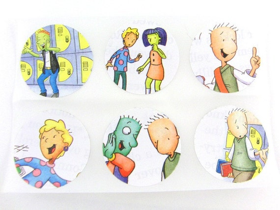 Doug Stickers Made From Children's Book