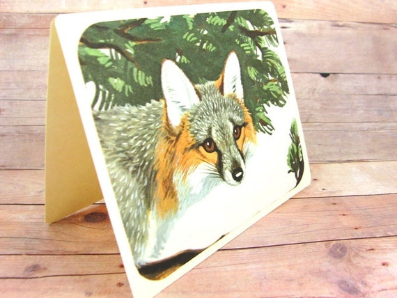 Vintage Fox Greeting Card