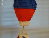 Hot Air Balloon Party Pinata-Red, White and Blue