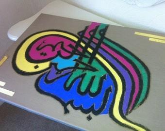 ISLAMIC ART: 'Splash of Colour' Bismillah Canvas CLEARANCE