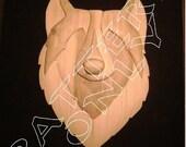 Tribal Intarsia Wolf Pattern