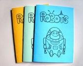 Robots. Printable Coloring Book