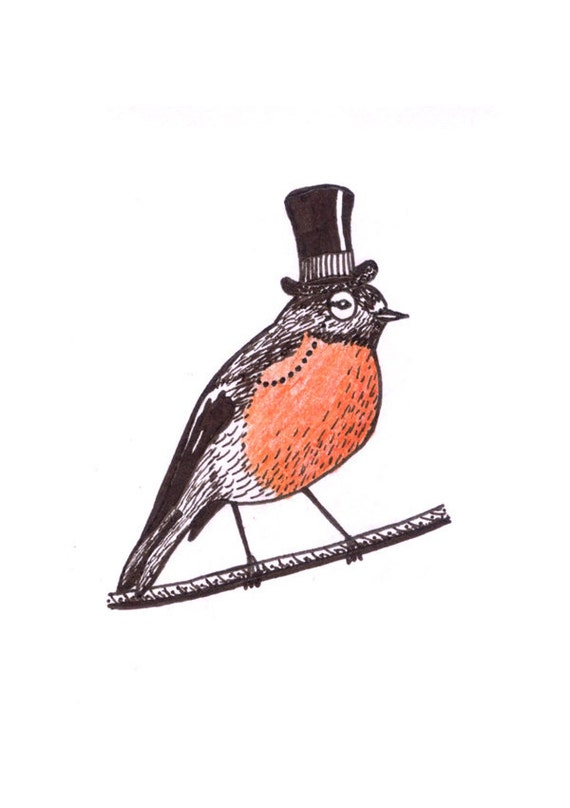 Lord Robin. Original ACEO,ink drawing on high quality card paper
