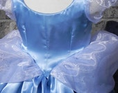 Cinderella Inspired Costume. Hand Made. Sizes 5T to size 10
