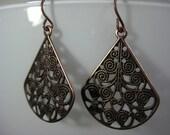 Antique Bronze Teardrop Earrings