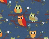 Owls on Navy - Ten Little Things - Moda Cotton Fabric