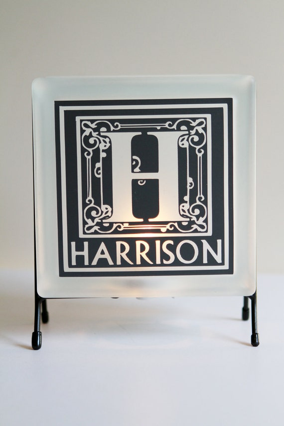 Personalized Monogram and Family Name Light. Wedding gift. Anniversary gift.  Father's Day. Custom Gift. Personalized Gift. Personalization.