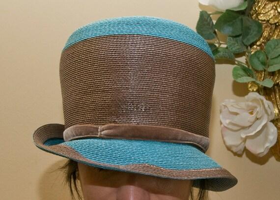 Vintage Blue&Brown Hat