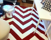 Chevron Rug 6x8 Holiday Cabin Red