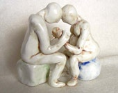 Couple In Labor - Childbirth Sculpture - Made To Order
