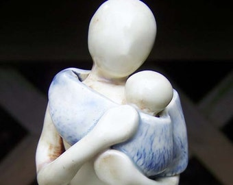 Mother & Child Figurine - Baby Carrying - Made to Order