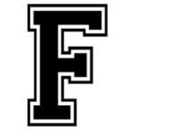 Varsity letter f