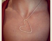 "Say ""I Love You"" with an organic sterling heart"