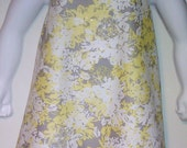 Pretty Yellow and Grey Halter Top Pillowcase Dress