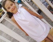 White eyelet reversible pillowcase dress perfect for Easter