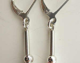 Coral Sea Bamboo Sterling Silver Lever Back Earring 04