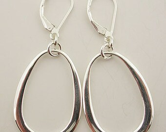 Sterling Silver Lever Back Earrings 04