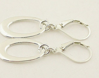 Sterling Silver Earrings Lever Back Earrings 02