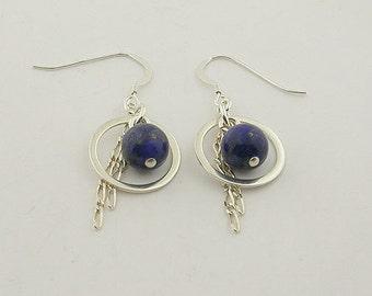 Lapis Sterling Silver Earrings 39