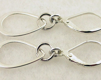 Sterling Silver Earrings Lever Back Earrings 01