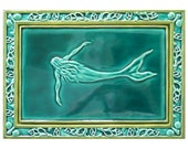 Mermaid Art Sculpture Ceramic Tile