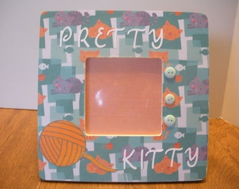 3.5 x 3.5 Pretty Kitty Picture Frame/ Ready To Ship