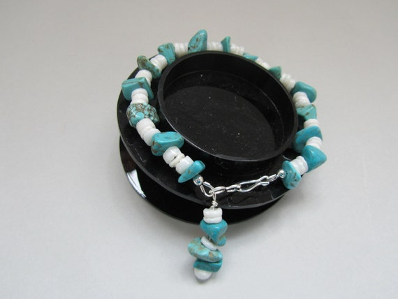 RESERVED for TeamDream -  Blue Turquoise Magnesite Bracelet