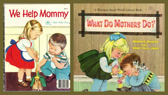 Mother's Day combo gift - two vintage children's books about Mommy