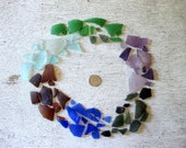 Sample Pack 55 pcs Rainbow Tumbled Vintage Glass