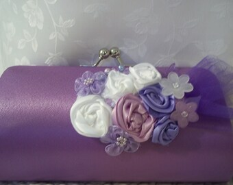 Wedding Clutch - Orchid, Lavender and Lilac