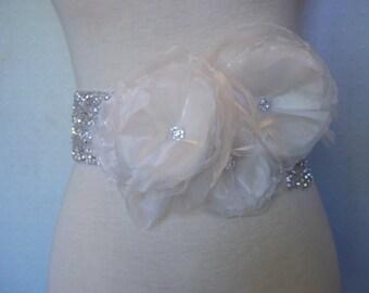 Bridal Sash - Rhinestone Floral Bridal Sash - Rhinestone Wedding Sash/Belt - A Bijoux Bridal Signature Design
