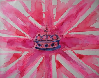 Chic Union Jack with Crown