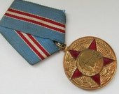 Rare Soviet Vintage  Medal - Badge from  60s,  military red star,  Military steampunk