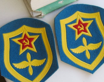 Vintage Military insignia - 2 military patches, military steampunk, Steampunk supplies