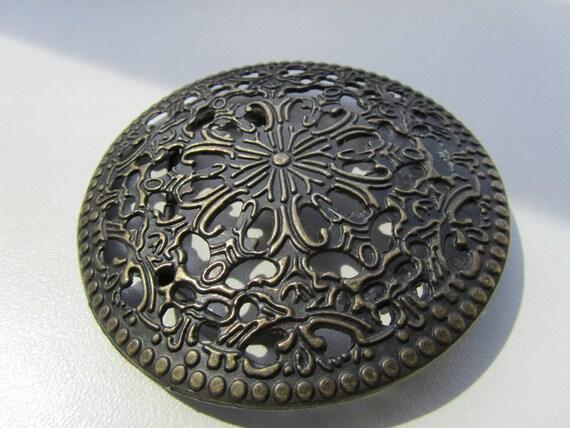 Vintage Filigree Metal Buckle