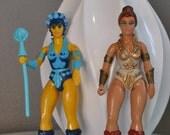 Vintage 1980s He-Man Figures, Evil-Lyn and Teela