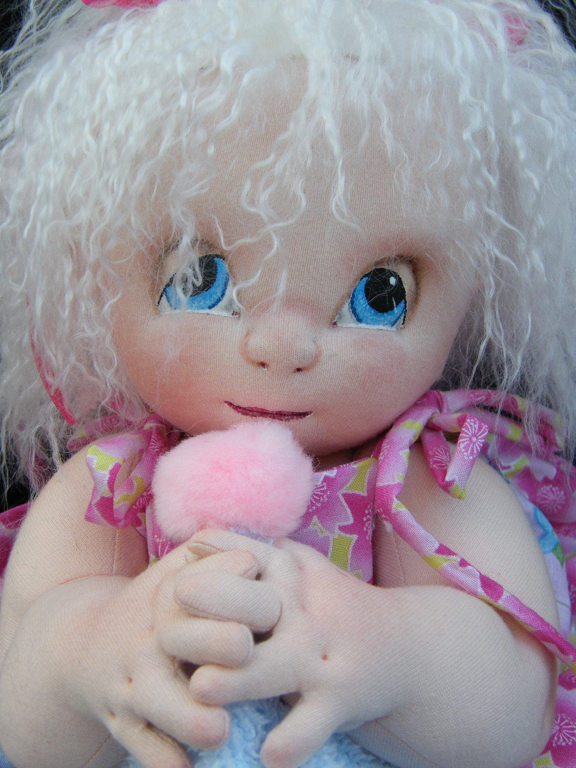 Baby Girl Soft Sculpture / needle sculpted cloth baby doll