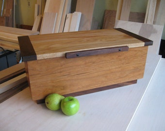 Large Wooden box of Cherry, Walnut, Oak and Ebony