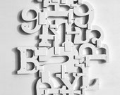 Conversation Piece vintage sign letters typography 8x10 PRINT  by Elizabeth Rosen