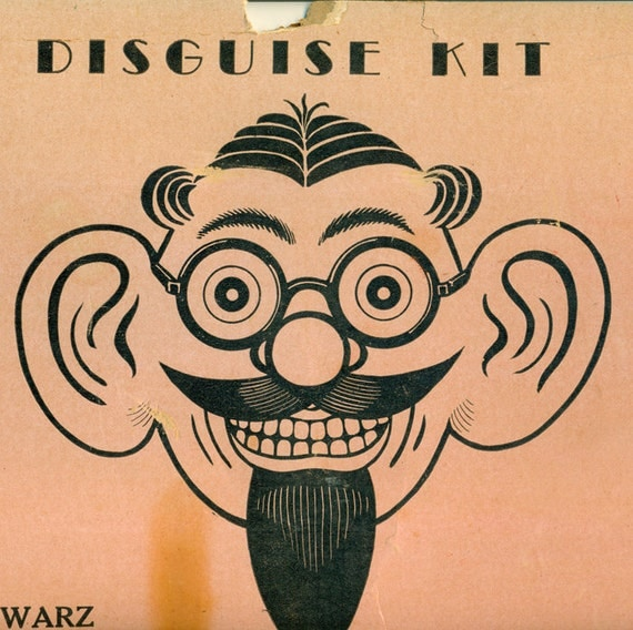 1930's RARE Exclusive FAO Schwarz Disguise Kit in Box near Complete w 2 G-man badges  offered by Elizabeth Rosen