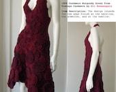 100% Cashmere Burgundy Dress from Vintage Cashmere by Koi Suwannagte