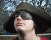 Leather Eyepatch Pirate Steampunk Jolly Roger Skull Crossbones Eye Patch