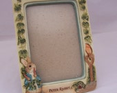 Reserved for Penny Walker Vintage Peter Rabbit Beatrix Potter Picture Frame