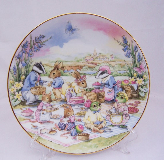 Reserved for Sharon Duan Vintage Little Nook Village, The Picnic, by Leonardo, Vintage Home Decor, UK Seller