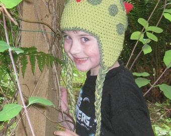 Crochet Dinosaur Ear Flap Hat