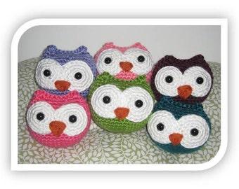 Crochet Owl Rattle Toy Amigurumi