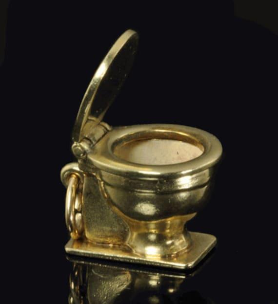 Vintage 14k Gold Charm Bracelet: Vintage 14K Gold Movable Charm For Bracelet By