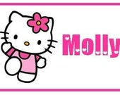 Personalized HELLO KITTY Bag Tag for Luggage, Backpack, Lunch Kit, Diaper Bag and more...